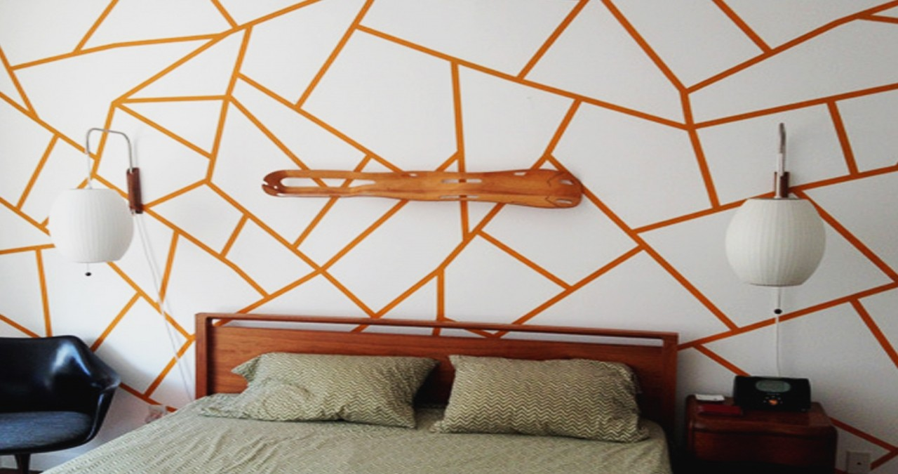 diy tips for painting geometric shapes on your walls diy